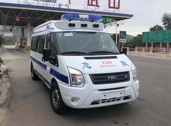江铃全顺V348长轴中顶救护车(凸台版)