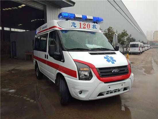 江铃全顺V348(短轴)中顶监护型救护车